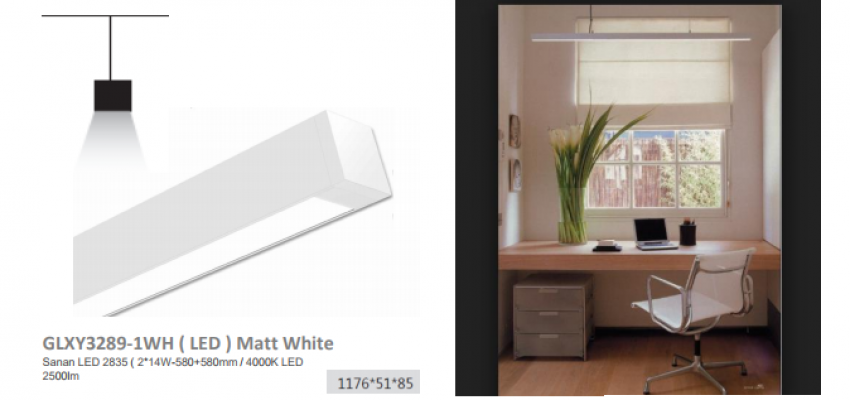 LES GLXY3289-1WH ( LED ) Matt White
