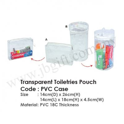Transparent Toiletries Pouch PVC Case