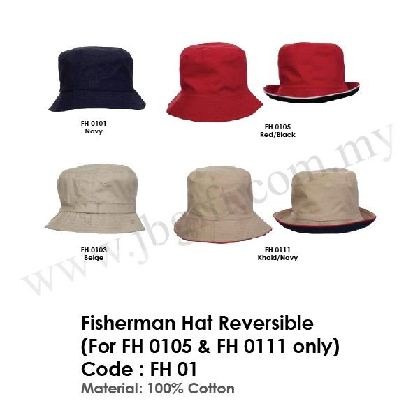 Fisherman Hat Reversible (For FH 0105 & FH 0111 only) FH 01 Cap