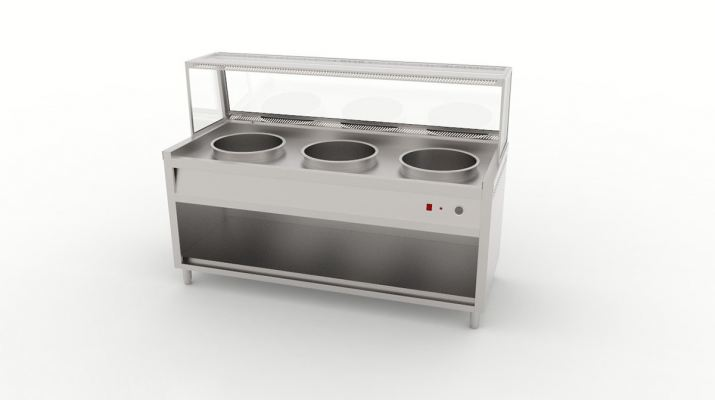 Three Pot Display Bain Marie