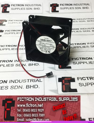 3615KL-05W-B60 NMB-MAT 24VDC DC Brushless 0.55A Cooling Fan Minebea-Motor Fan Supply Malaysia Singapore Thailand Indonesia