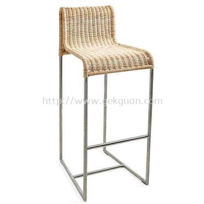 RBS 010 - RATTAN + STEEL BAR STOOL