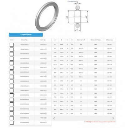 ISO Centering Ring & NBR O'Ring USA