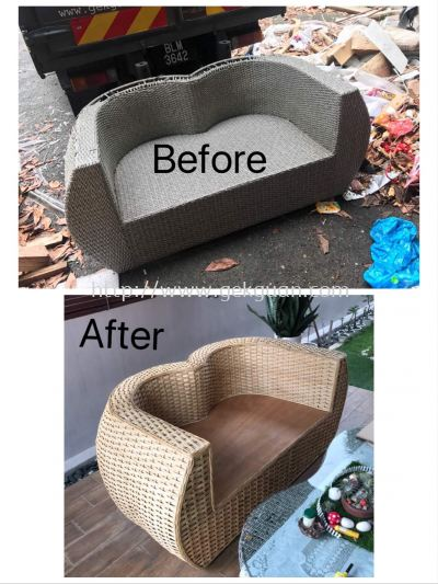 REPAIR AND REPLACE FROM SYNTHETIC TO NATURAL RATTAN