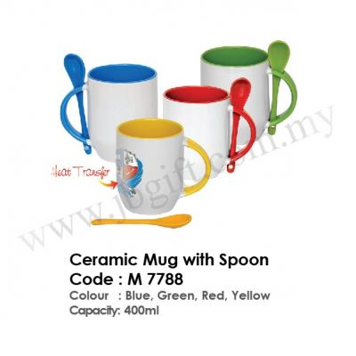 Ceramic Mug with Spoon M 7788