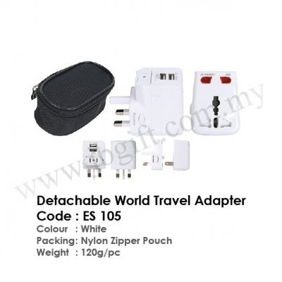 Detachable World Travel Adapter ES 105