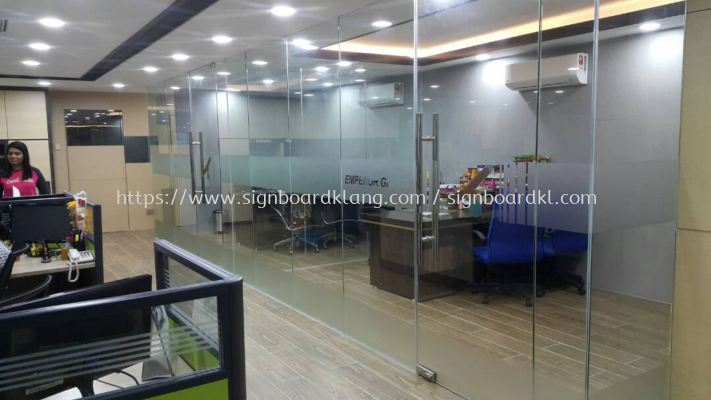 Emperor Group office in door frosted Sticker at bukit tinggi botanic klang