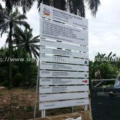 construction project Signboard in Klang