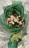 Roses Spray & Barbatus Hand Bouquet (HB-520) ROSE BOUQUET Hand Bouquet