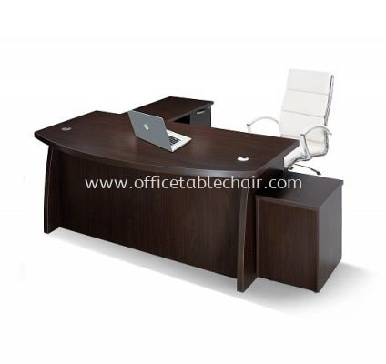 QAMAR EXECUTVE DIRECTOR OFFICE TABLE WITH SIDE CABINET & MOBILE PEDESTAL 1D1F AQX1800