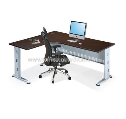 L-SHAPE TABLE METAL J-LEG C/W STEEL MODESTY PANEL QL 1815