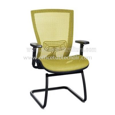 BEVERLY FULL MESH VISITOR CHAIR WITH EPOXY CANTILEVER BASE ABV-C3