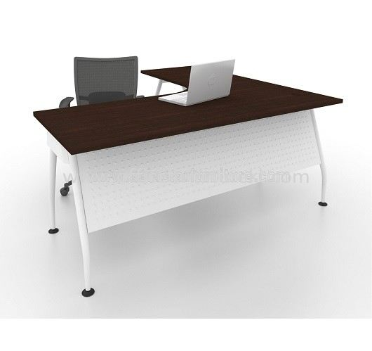 MAML 8656 EXECUTIVE L-SHAPE TABLE FRONT - WALNUT