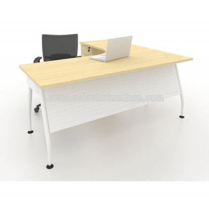 MAMD 8656 L-SHAPE TABLE WITH FIXED DRAWER FRONT - MAPLE