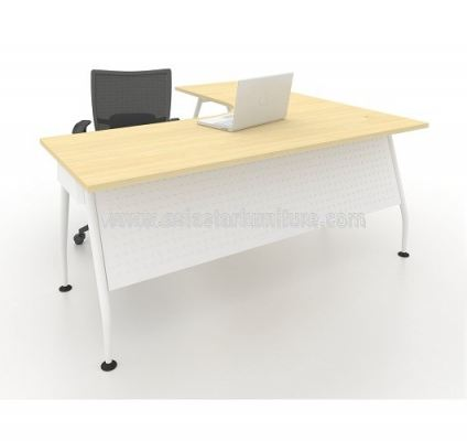 MAML 8656 EXECUTIVE L-SHAPE TABLE FRONT - MAPLE