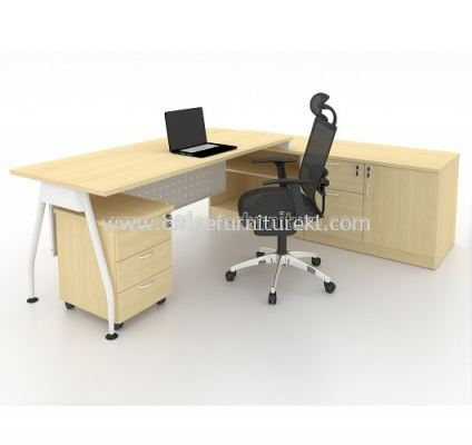 MA 99 DIRECTOR TABLE WITH SIDE CABINET - MAPLE