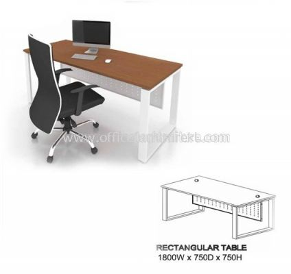 MO EXECUTIVE RECTANGULAR TABLE SIZE