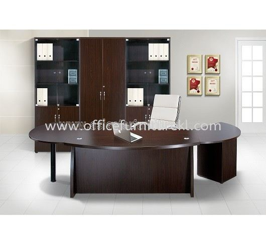 QAMAR EXECUTIVE DIRECTOR OFFICE TABLE SET WITH SIDE DRAWER, SIDE TABLE & HIGH CABINET SET2