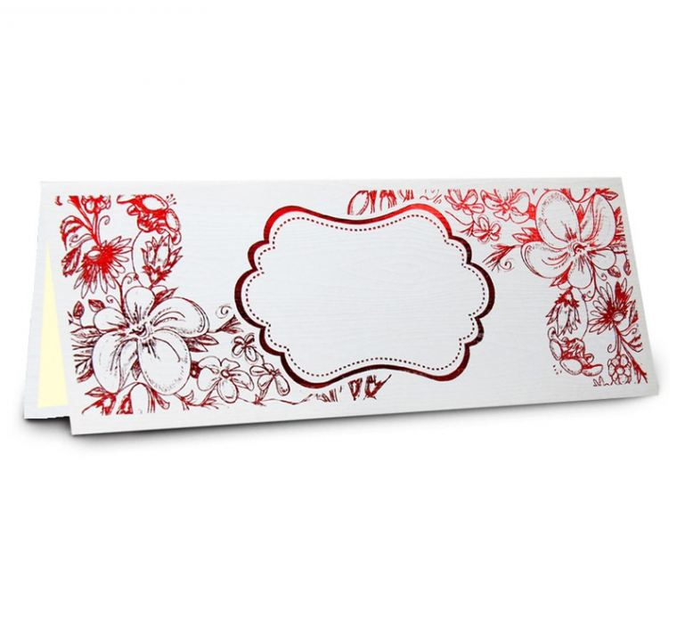 Classic 01 White (Red) Classic Series Malay Invitations