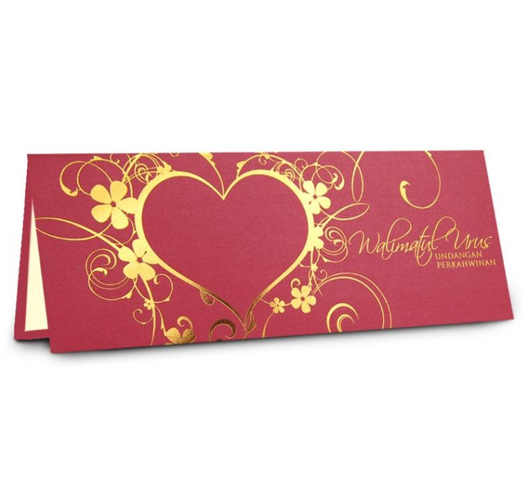 Classic 02 Red (Gold) Classic Series Malay Invitations
