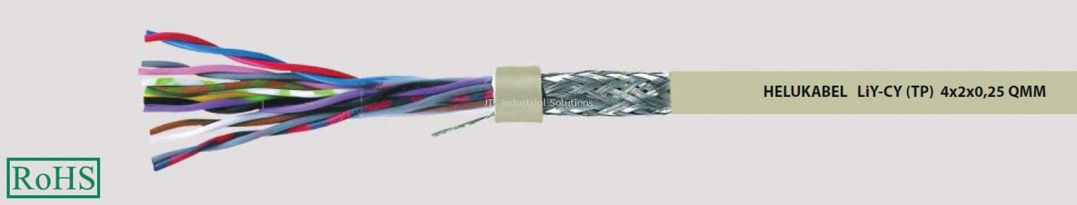 LiY-CY(TP) (Flexible, Cu-screened, colour coded to DIN 47100, EMC friendly, meter marking)