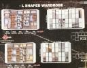 L Shape Wardrobe