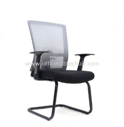 EXOTIC VISITOR MESH CHAIR WITH EPOXY BLACK CANTILEVER BASE ASE 2767