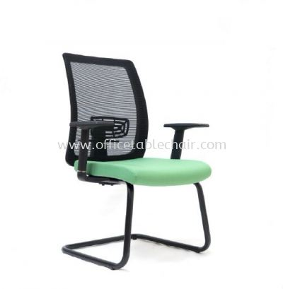 RIPON VISITOR MESH CHAIR WITH EPOXY BLACK CANTILEVER BASE ASE 2787