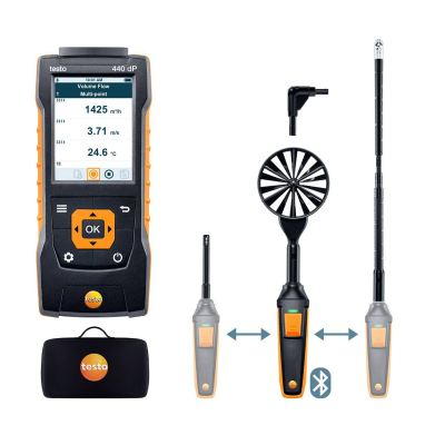 testo 440 | delta P Air Flow ComboKit 2 with Bluetooth® [SKU 0563 4410]