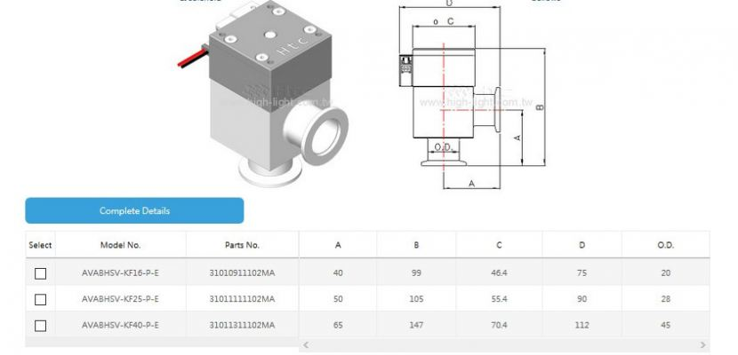 Aluminum angle valve pneumatic single-acting with bellows solenoid
