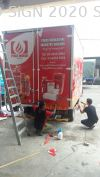 Lorry Sticker UV 1200dpi Advertising Signboard @ Puchong Inkjet Printing