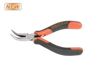 Mini Double Color Handle Bent Nose Pliers (S035044)