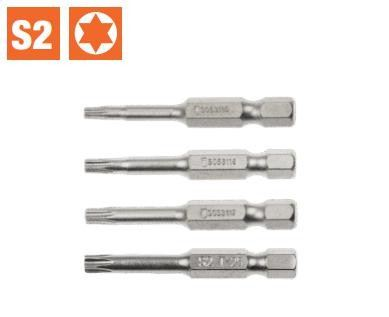 1/4�� Dr. 50mm Torx Bits (S053115 - S053118)