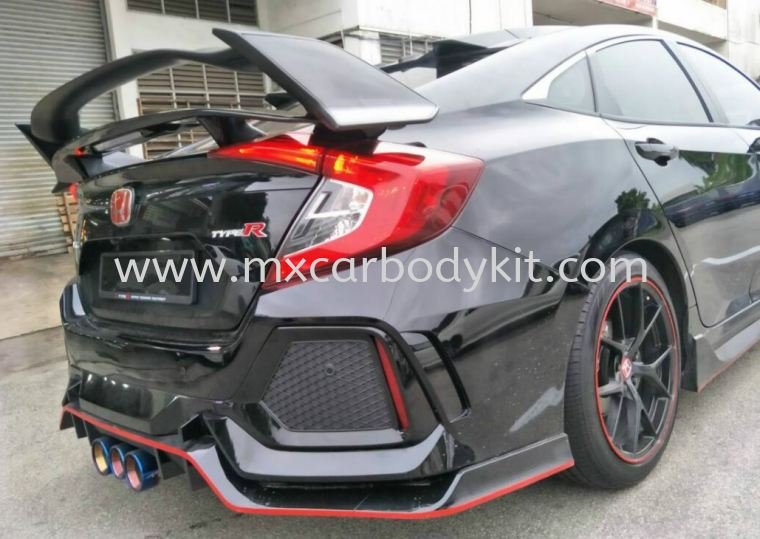 HONDA CIVIC 2016 FC ORI TYPE SPOILER WTIH SIDE CARBON COVER  CIVIC FC 2016 HONDA