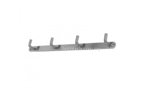 AR-3504-SS Row of 4 Towel Hooks