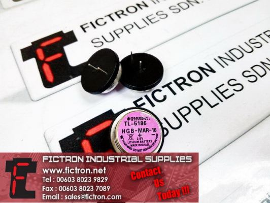 TL-5186 TADIRAN PCB Mount Cell Battery Lithium Ion button Battery Supply by Fictron Industrial Supplies
