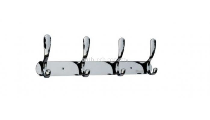 AR-3604-ZS Row of 4 Towel Hooks