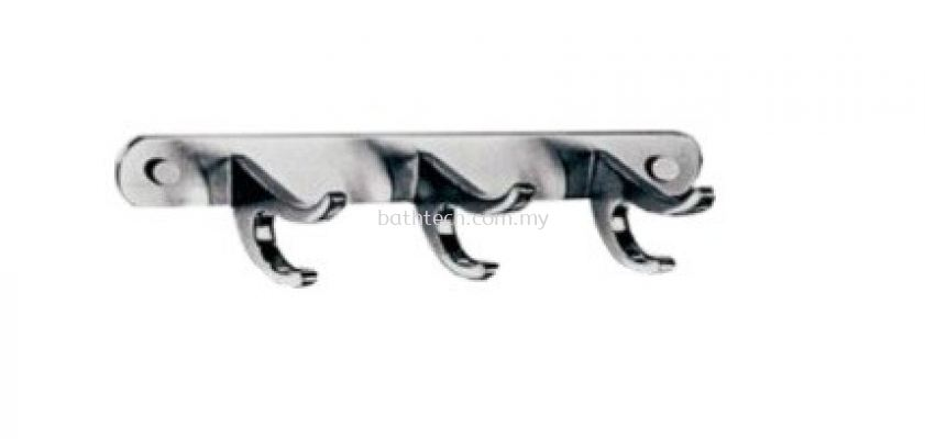 RH-C503-SS Row of 3 Towel Hooks