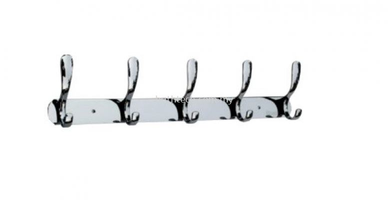 AR-3605-ZS Row of 5 Towel Hooks