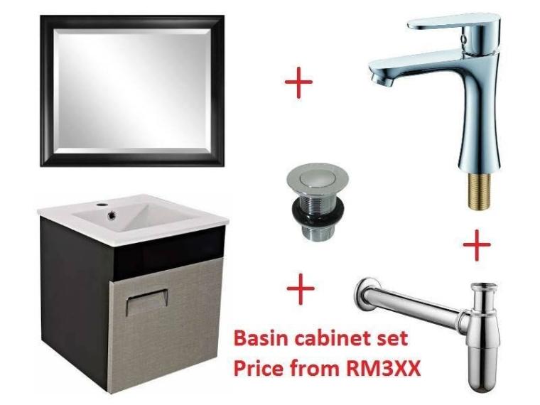 Basin Cabinet Set