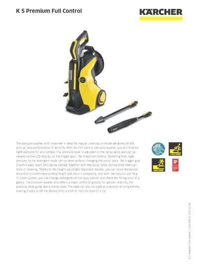 KARCHER K 5 Premium Full Control Pressure Washer