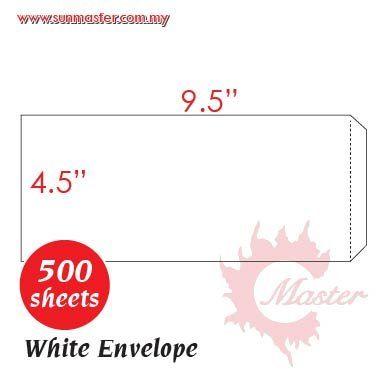 "4.5"" x 9.5"" White Envelope"