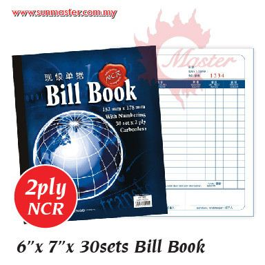 "6"" x 7"" NCR Bill Book"