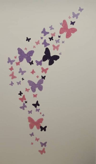 Butterfly In Daughter Room- Cotton Wall Decoration