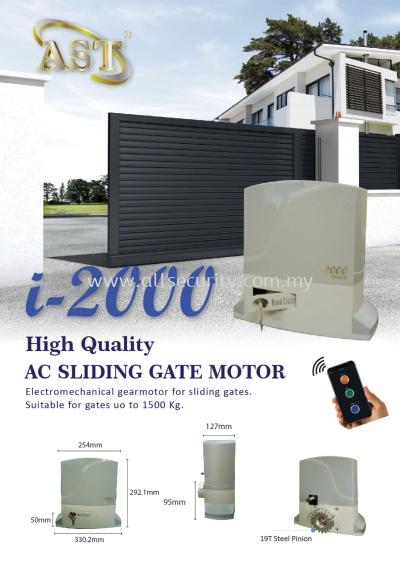 *NEW * i~2000 AC SLIDING GATE MOTOR