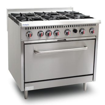 6 Open Burner with Oven (S36-6)