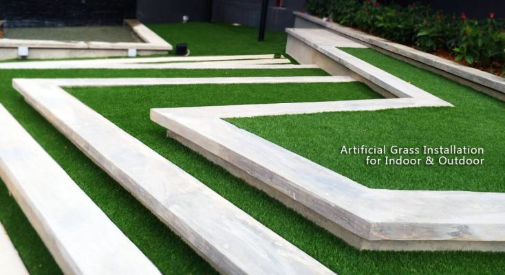 Artificial Grass Installatin for Inddor & Outdoor