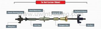 Tie Rod System (16mm) Assembly Of Tie Rod Assembly Of Form Tie & Tie Rod Formwork Accessories