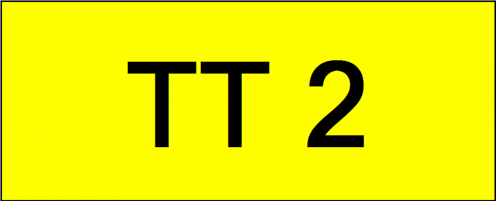 Superb Classic Number Plate (TT2)