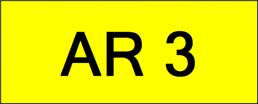 Superb Classic Number Plate (AR3)